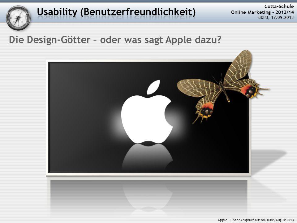 Usability (Benutzerfreundlichkeit)