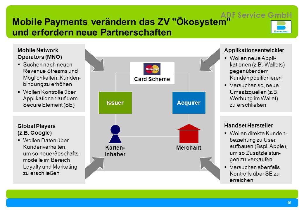 Mobile Payments verändern das ZV Ökosystem und erfordern neue Partnerschaften