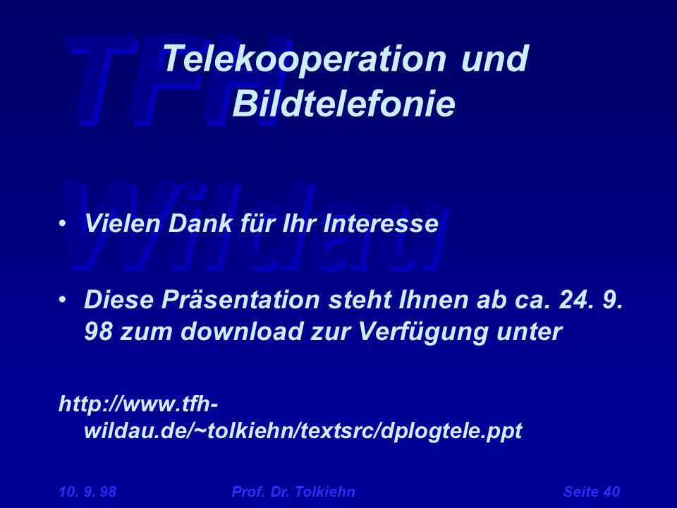 Telekooperation und Bildtelefonie