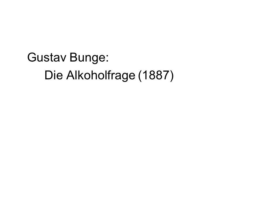 Gustav Bunge: Die Alkoholfrage (1887)