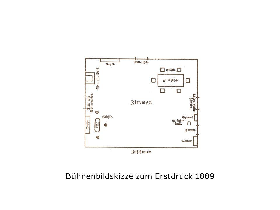 Bühnenbildskizze zum Erstdruck 1889