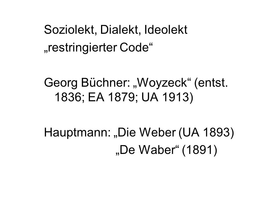 Soziolekt, Dialekt, Ideolekt