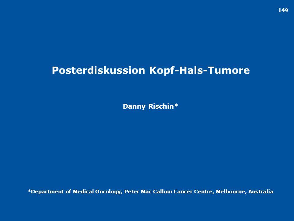 Posterdiskussion Kopf-Hals-Tumore