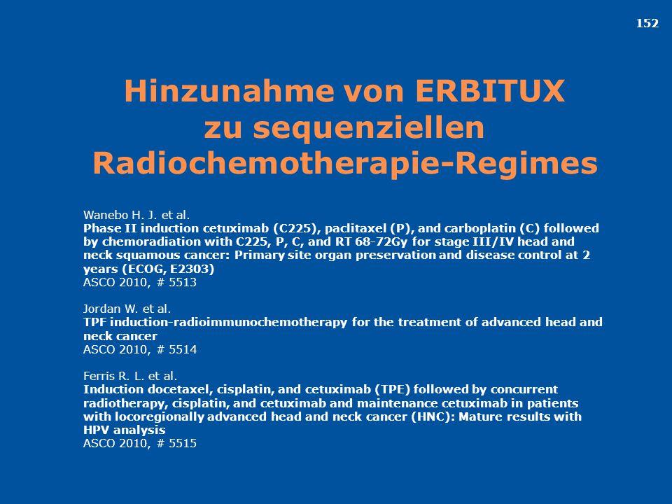 Hinzunahme von ERBITUX zu sequenziellen Radiochemotherapie-Regimes