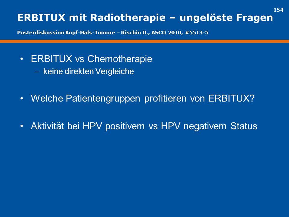 ERBITUX mit Radiotherapie – ungelöste Fragen