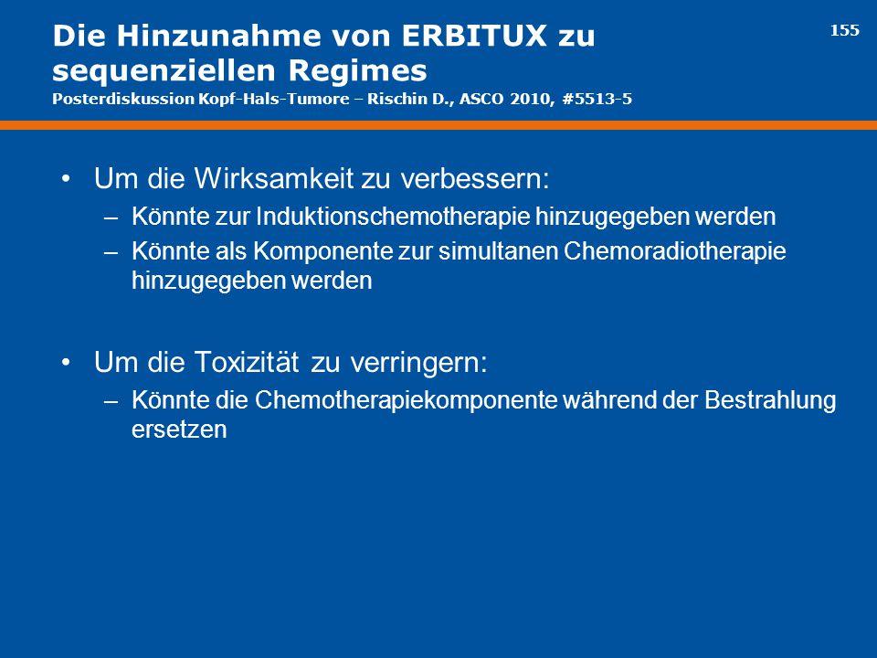 Die Hinzunahme von ERBITUX zu sequenziellen Regimes