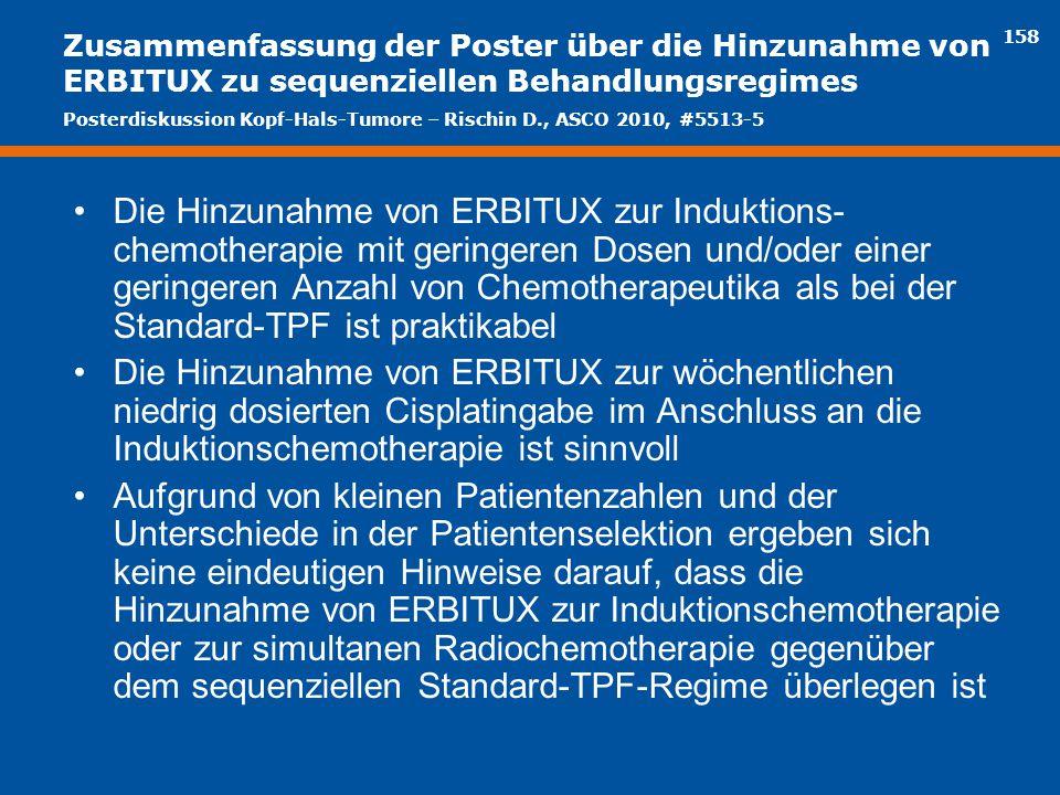 Zusammenfassung der Poster über die Hinzunahme von ERBITUX zu sequenziellen Behandlungsregimes