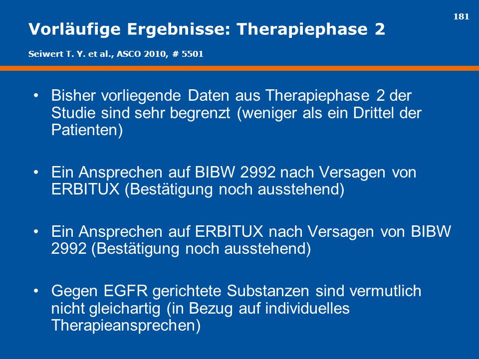 Vorläufige Ergebnisse: Therapiephase 2