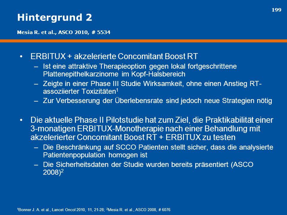 Hintergrund 2 ERBITUX + akzelerierte Concomitant Boost RT