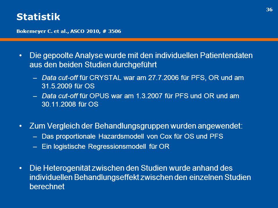 Statistik Bokemeyer C. et al., ASCO 2010, # 3506.