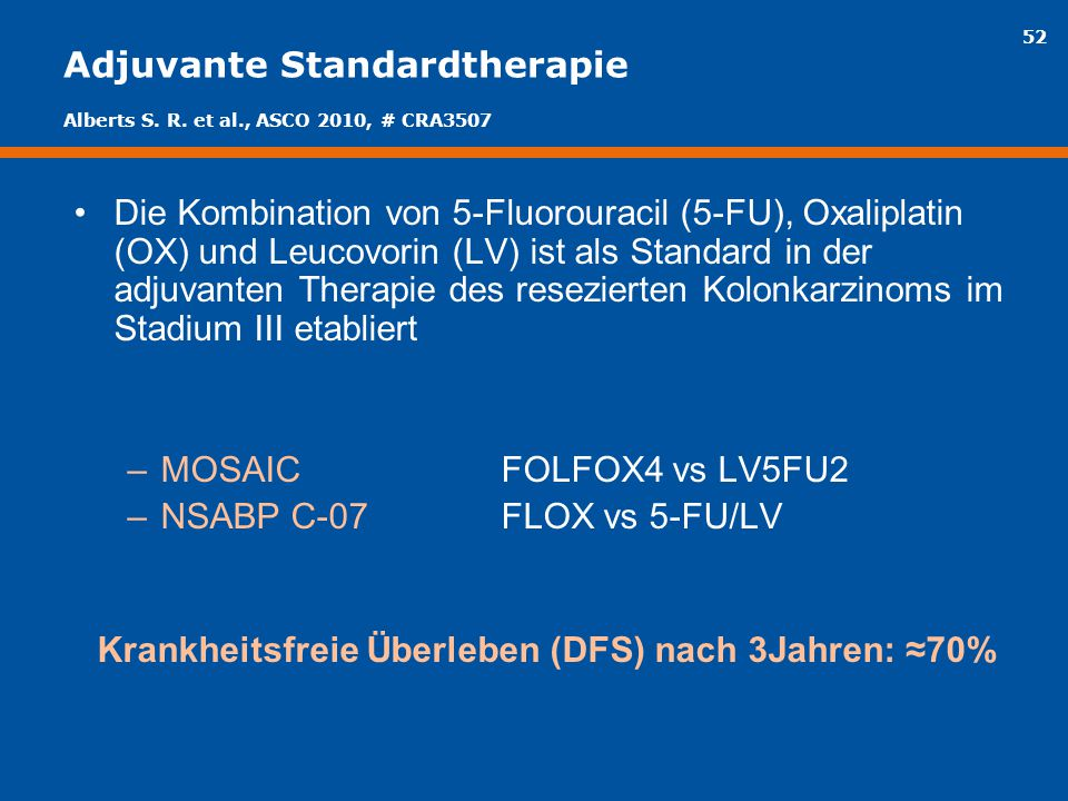 Adjuvante Standardtherapie
