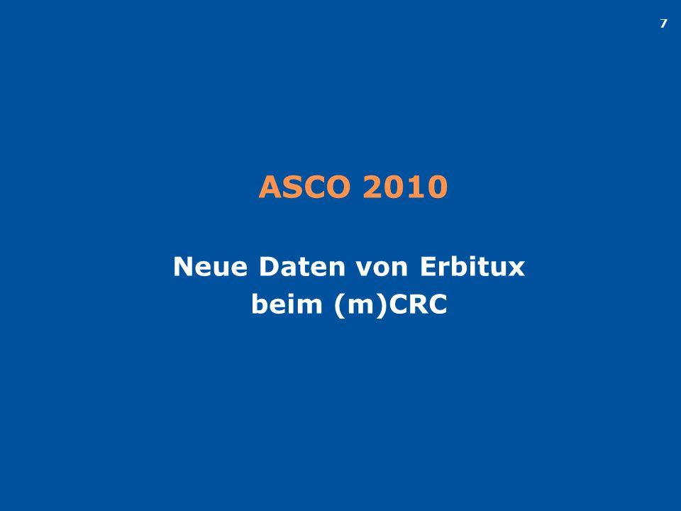 ASCO 2010 Neue Daten von Erbitux beim (m)CRC