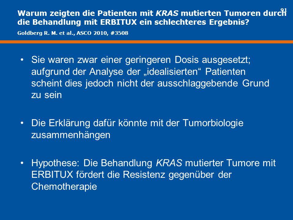 Die Erklärung dafür könnte mit der Tumorbiologie zusammenhängen