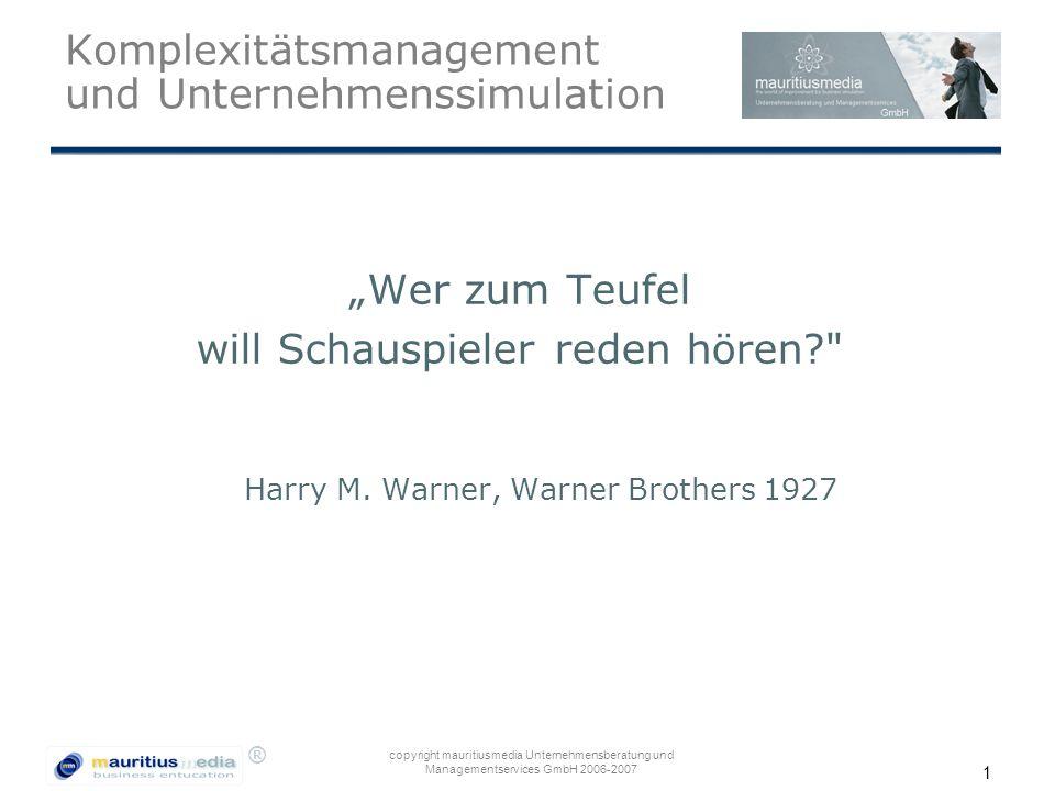 Komplexitätsmanagement und Unternehmenssimulation