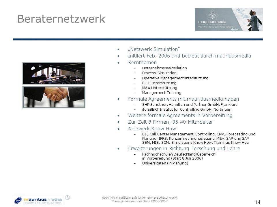 """Beraternetzwerk """"Netzwerk Simulation"""