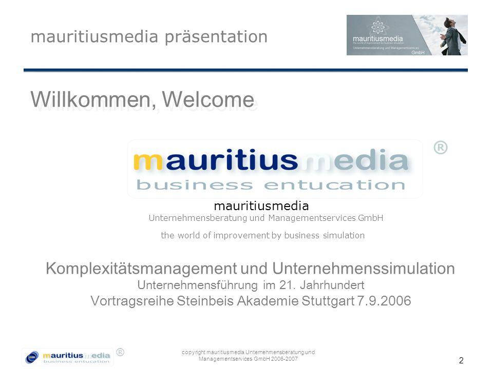 Willkommen, Welcome mauritiusmedia präsentation ®
