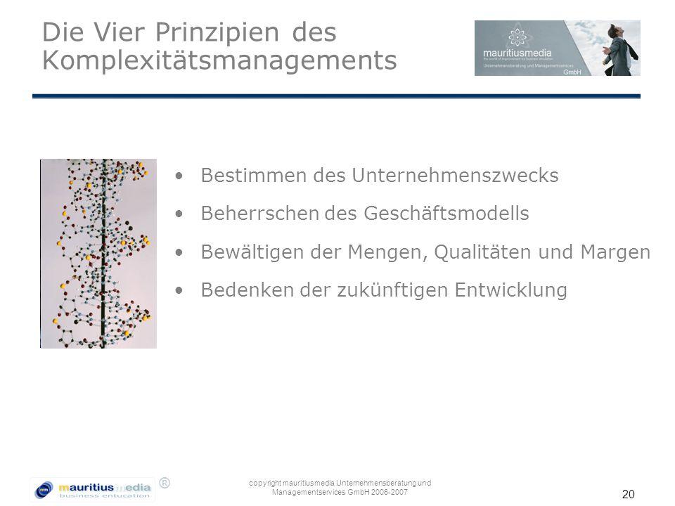 Die Vier Prinzipien des Komplexitätsmanagements