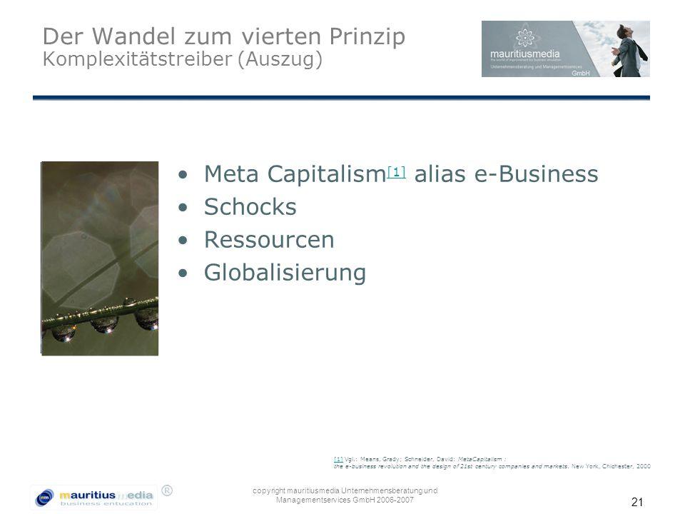 Der Wandel zum vierten Prinzip Komplexitätstreiber (Auszug)
