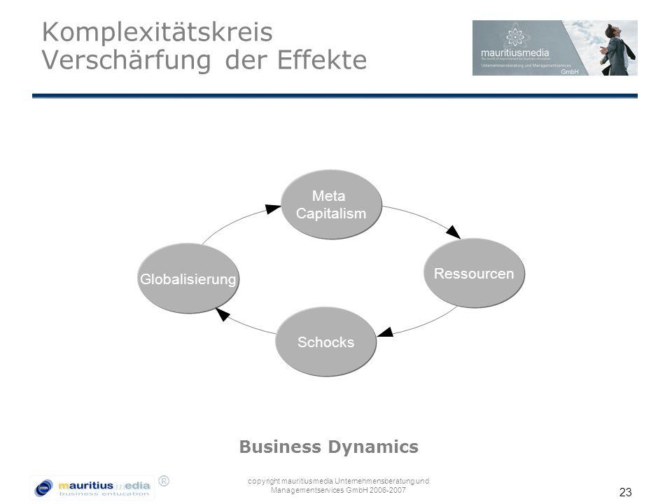 Komplexitätskreis Verschärfung der Effekte