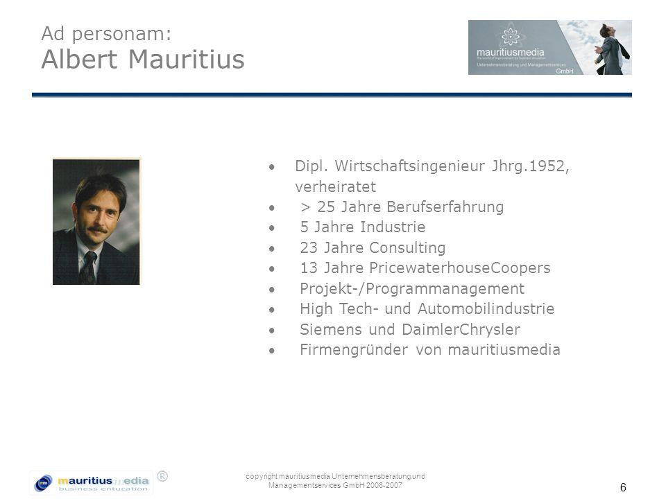 Ad personam: Albert Mauritius