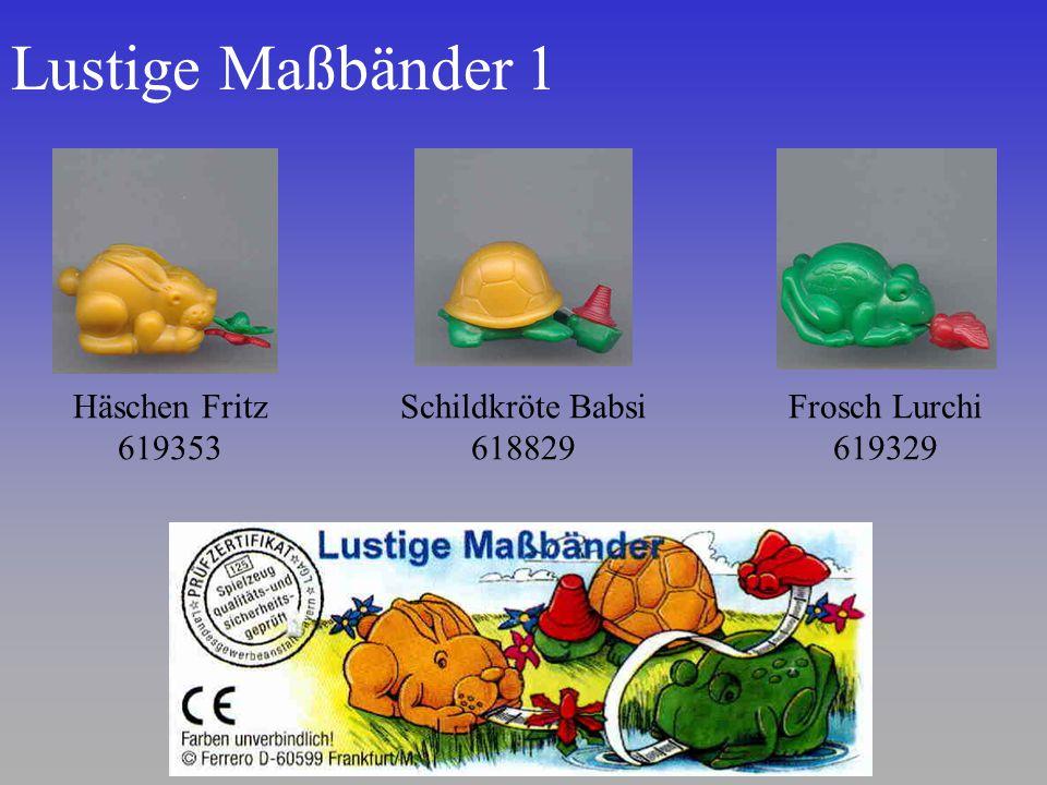 Lustige Maßbänder 1 Häschen Fritz 619353 Schildkröte Babsi 618829