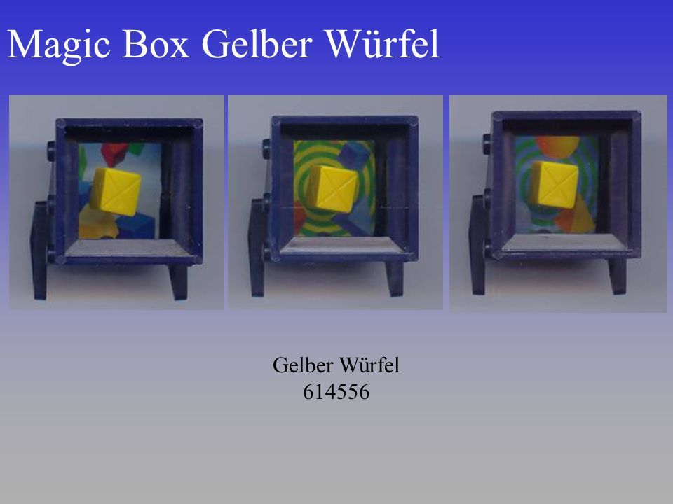 Magic Box Gelber Würfel