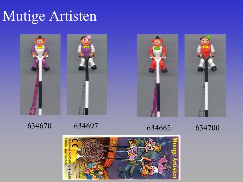 Mutige Artisten 634670 634697 634662 634700