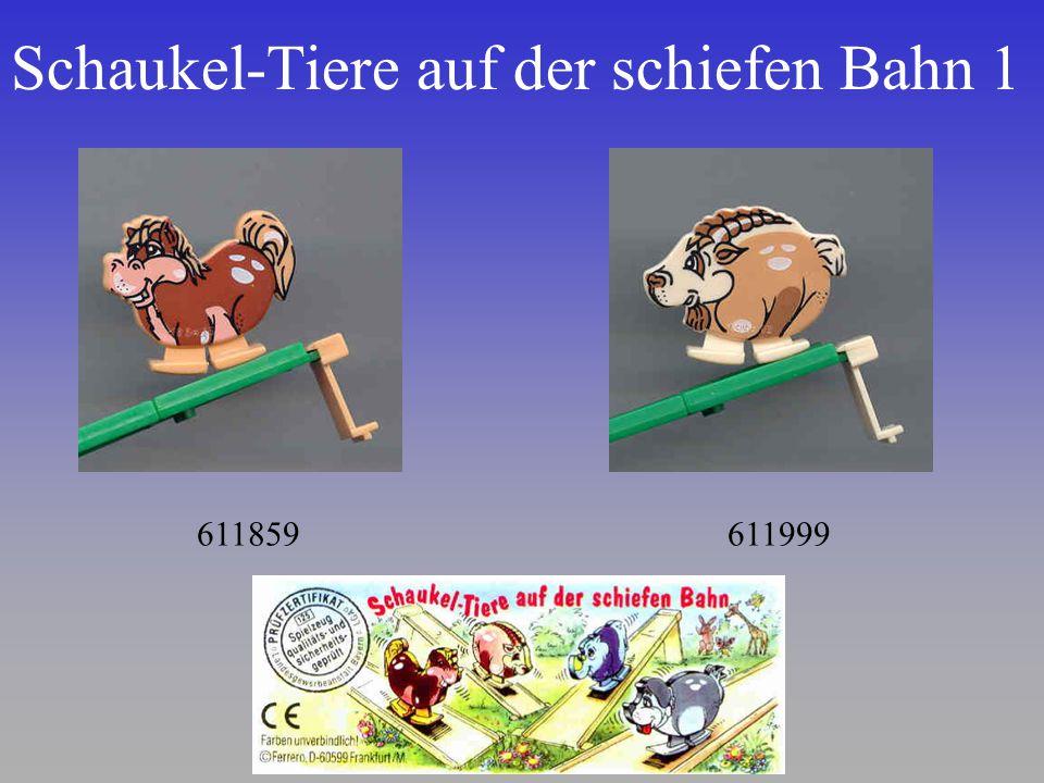 Schaukel-Tiere auf der schiefen Bahn 1
