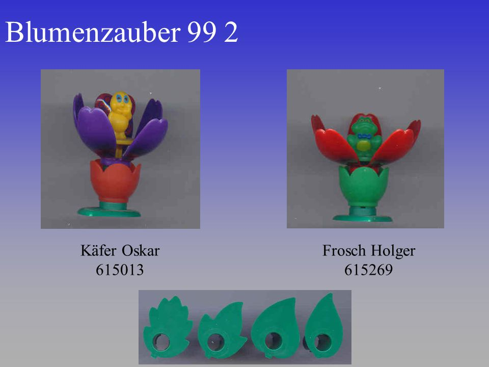 Blumenzauber 99 2 Käfer Oskar 615013 Frosch Holger 615269