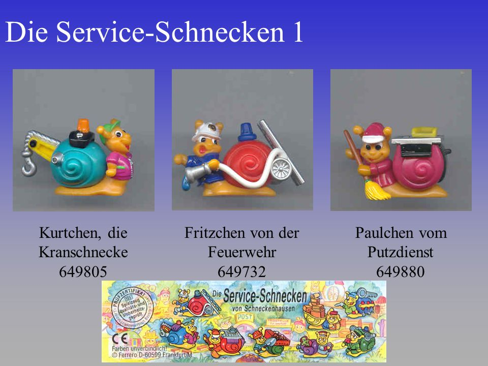 Die Service-Schnecken 1