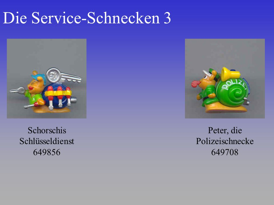 Die Service-Schnecken 3