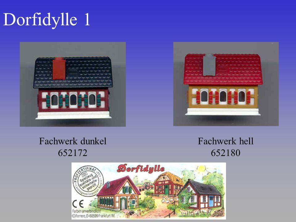 Dorfidylle 1 Fachwerk dunkel 652172 Fachwerk hell 652180