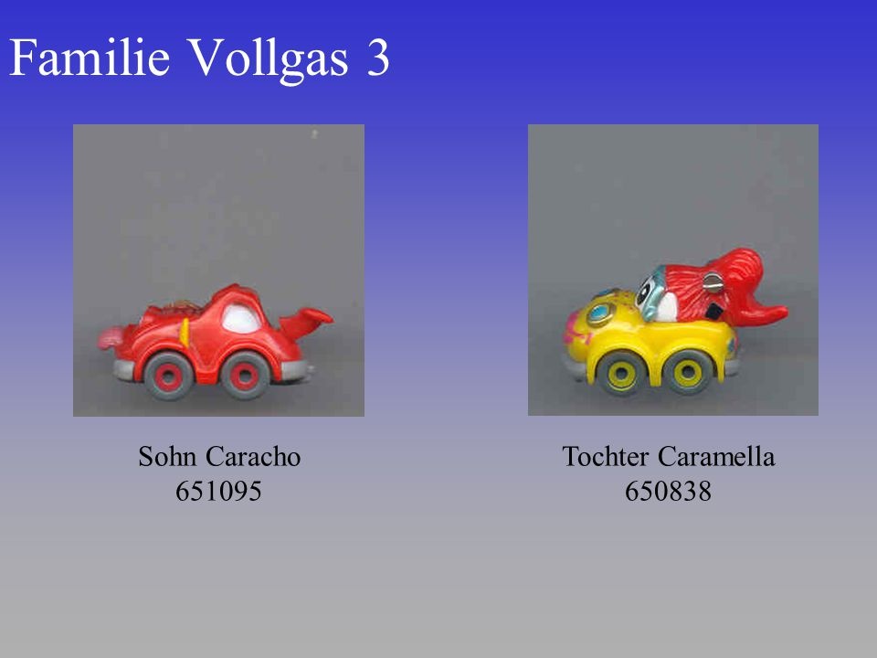 Familie Vollgas 3 Sohn Caracho 651095 Tochter Caramella 650838
