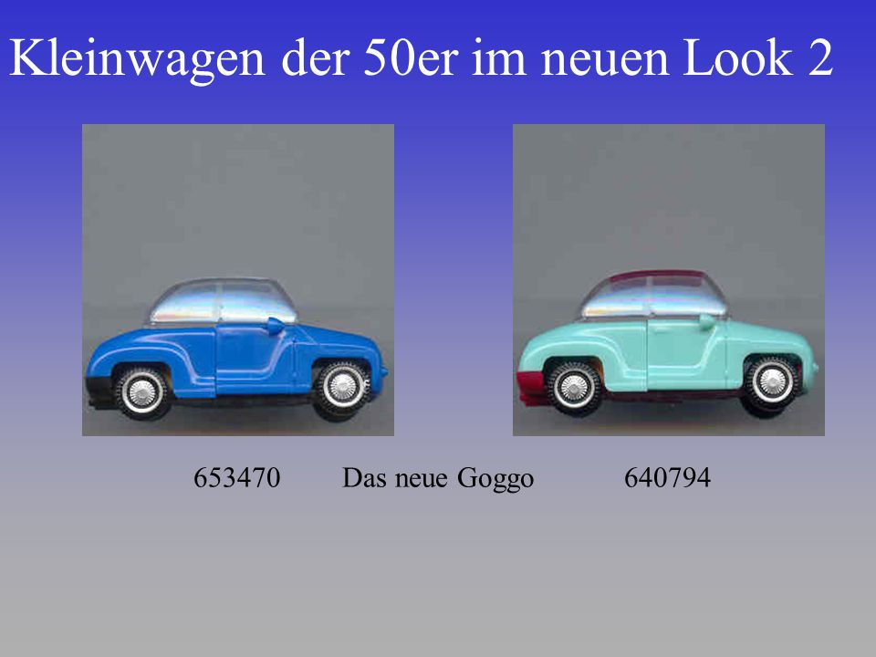 Kleinwagen der 50er im neuen Look 2