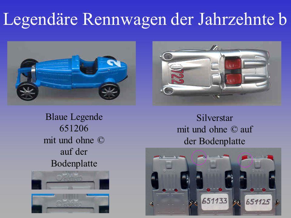 Legendäre Rennwagen der Jahrzehnte b