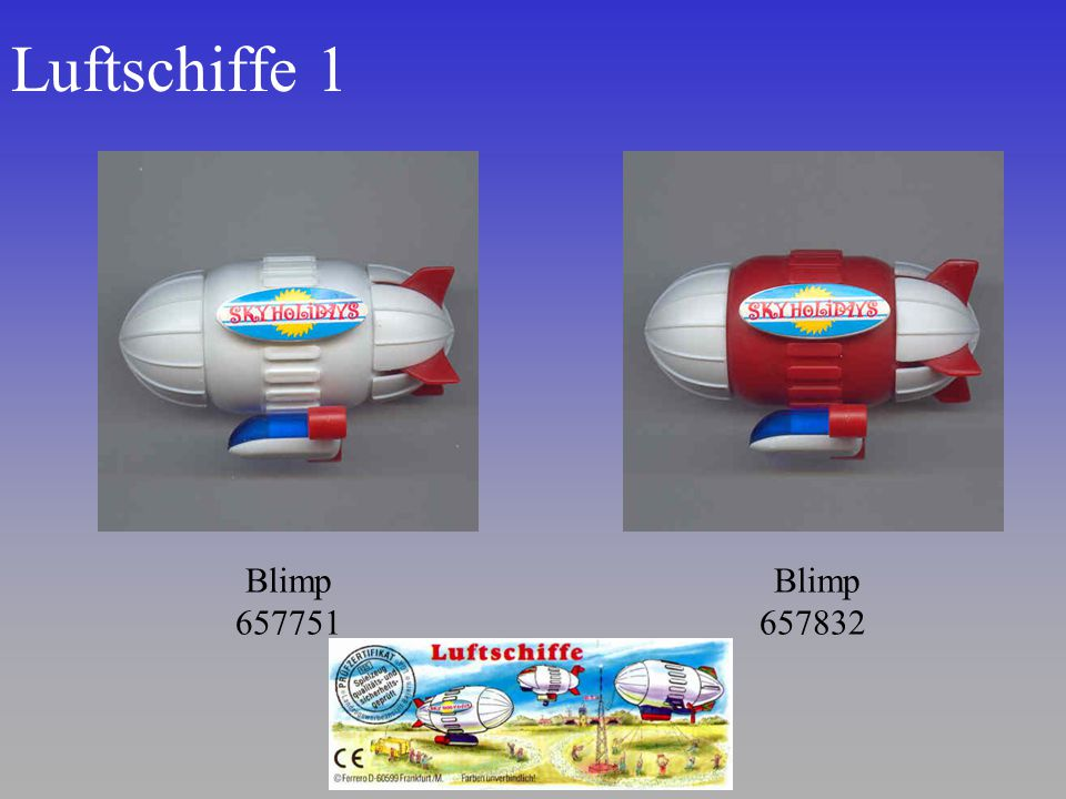 Luftschiffe 1 Blimp 657751 Blimp 657832
