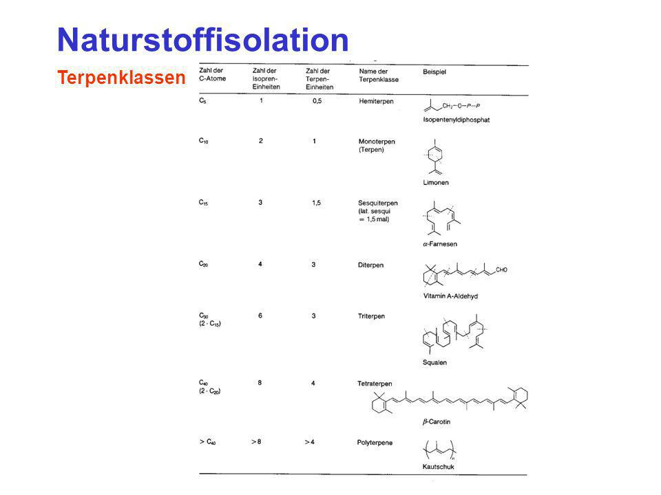 Naturstoffisolation Terpenklassen