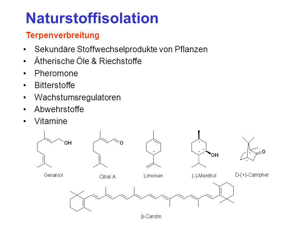 Naturstoffisolation Terpenverbreitung