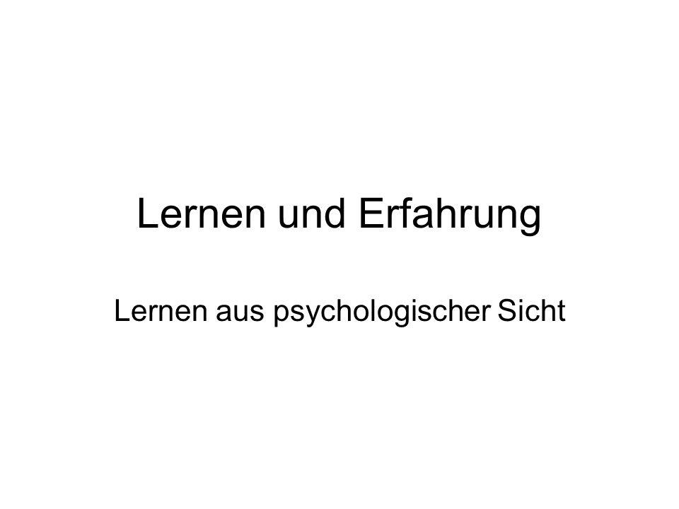 Lernen aus psychologischer Sicht