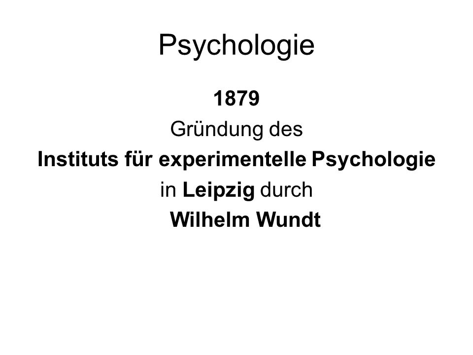 Instituts für experimentelle Psychologie