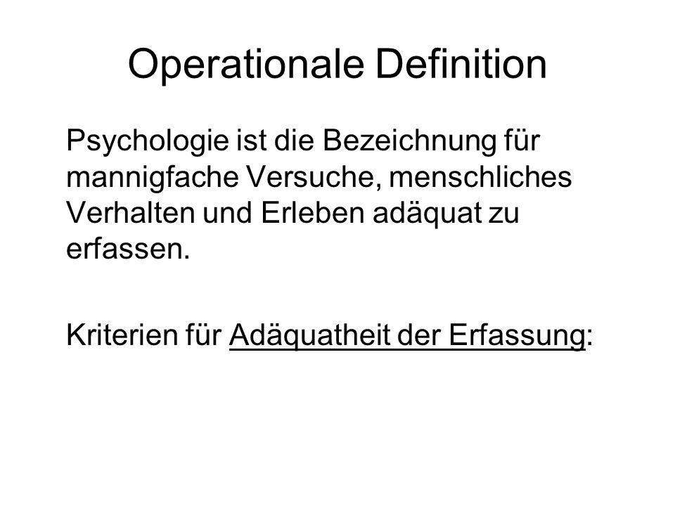 Operationale Definition