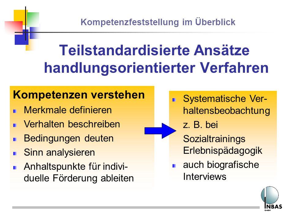 Teilstandardisierte Ansätze handlungsorientierter Verfahren