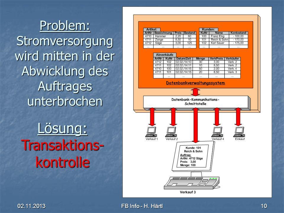 Einführung Datenbanksysteme