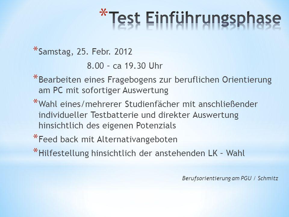 Test Einführungsphase