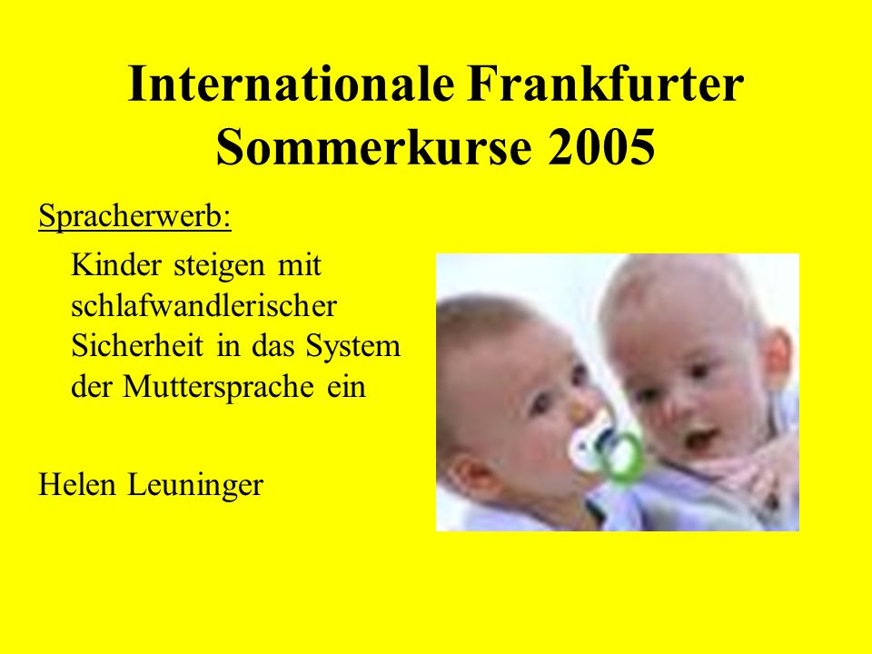 Internationale Frankfurter Sommerkurse 2005