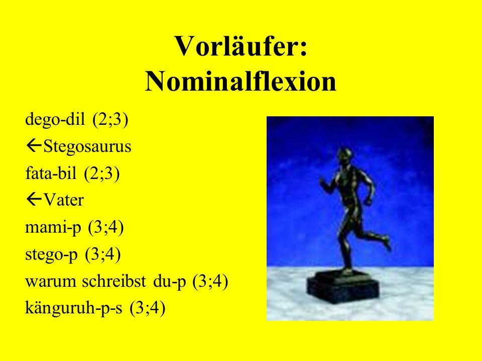 Vorläufer: Nominalflexion