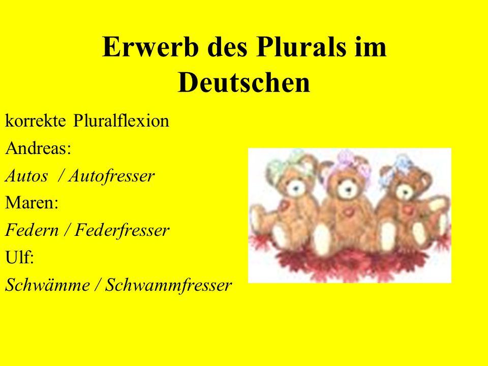Erwerb des Plurals im Deutschen