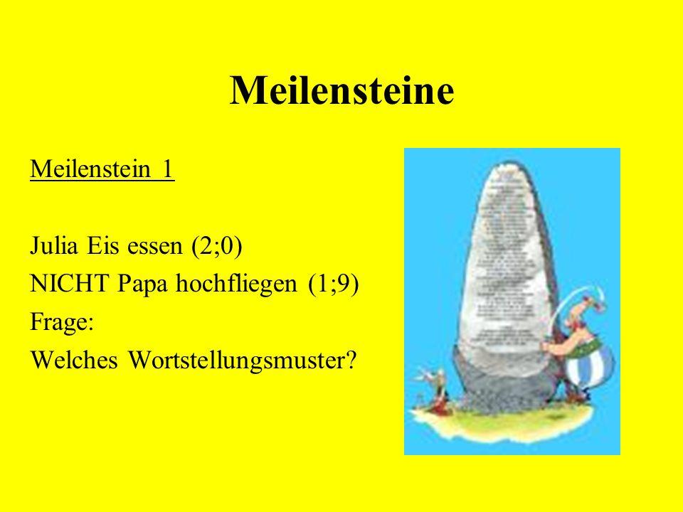Meilensteine Meilenstein 1 Julia Eis essen (2;0)