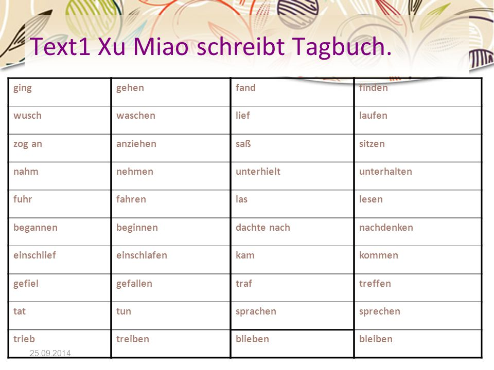 Text1 Xu Miao schreibt Tagbuch.