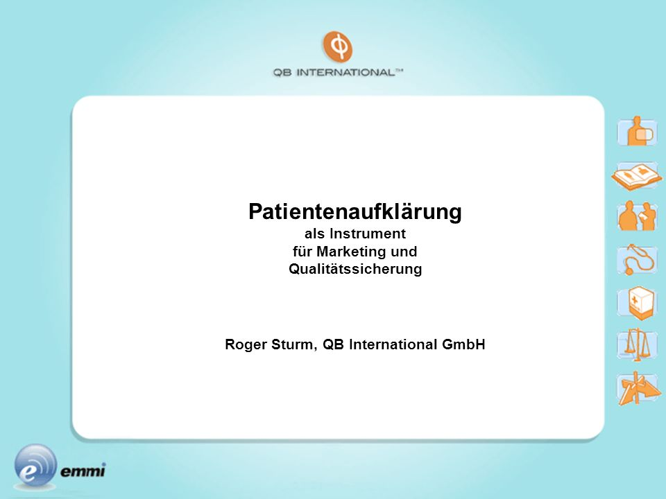 Roger Sturm, QB International GmbH